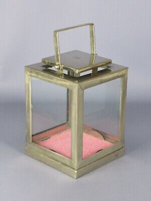 Special Lantern Holder Candle Display IN Metal With Glasses End Xx Century