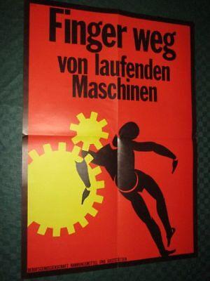 Finger weg von laufenden Maschinen - Berufsgenossenschaft Poster - 59 x 42 cm