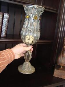 "Goblet Style Wrought Iron/Glass Candle Holder Or Flower Vase 16"" Kitchener / Waterloo Kitchener Area image 4"