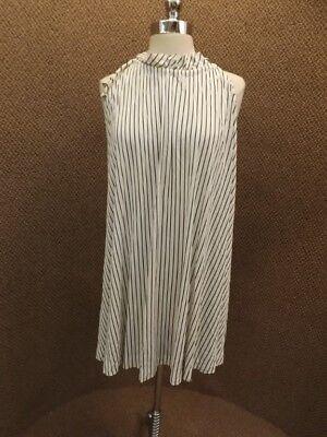 Atomic Black & White Vtg 1960s NEW NOS Miami Fashion Summer Short Tent Dress S
