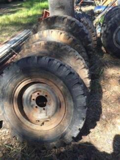 Toyota 6 stud wheels & tyres R16 R15 Landcruiser Hilux