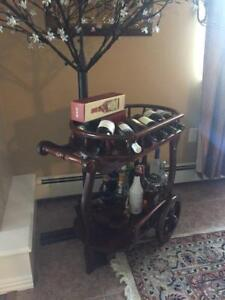 Vintage Wood Bar Style Cart for sale!! Excellent condition!