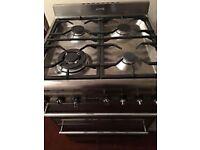 Smeg SUK62MFX5 stainless steel cooker with 4 burner gas hob