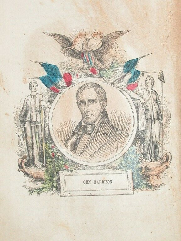 1857 ENGRAVING AMERICAN INDIAN WARS GENERAL HARRISON