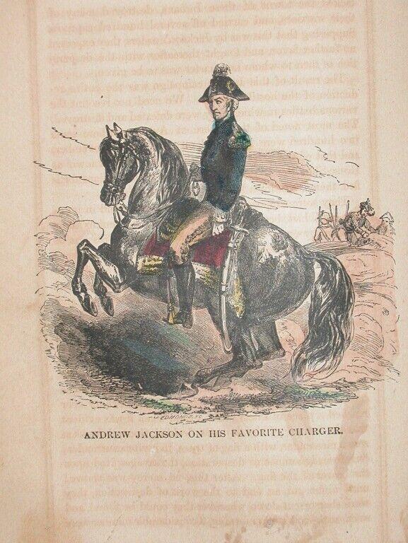 1857 ENGRAVING FLORIDA INDIAN WAR ANDREW JACKSON HIST.