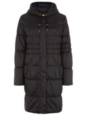 Box Quilted Coat (Planet Quilted Hooded Coat Black Size UK 8 RRP £199 Box47 15 B )