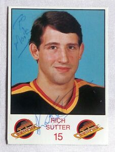 Rich-Sutter-Vancouver-Canucks-1986-87-Signed-Team-Card