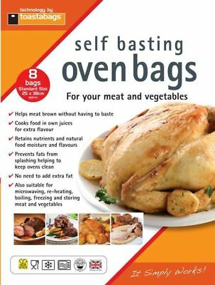 8 x Toastabags Standard Oven Roasting Bags Self Basting Cooking Meat Vegetables
