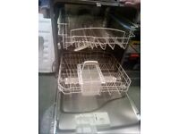 Indesit built in Dishwasher full size 12 place settings (600mm wide)
