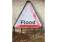 Road Sign - ' Flood '