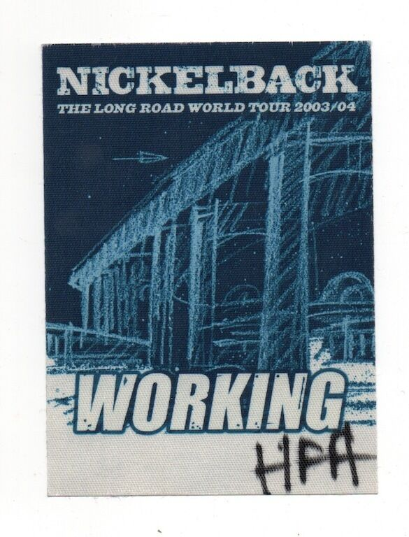 Nickelback 2003/04 The Long Road Tour Local Crew Satin Backstage Pass