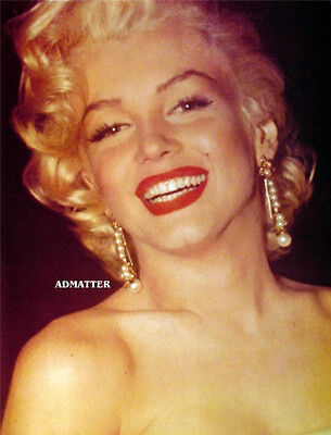 Marilyn Monroe Pin Up Poster Amazing Smile In This Sexy Luscious Red Lips Photo