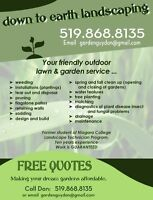 FREE QUOTES!!  LANDSCAPING