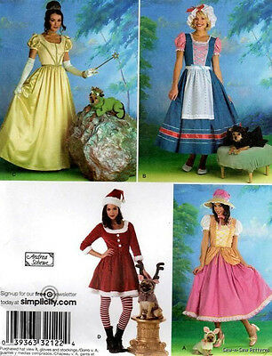 SEW PATTERN S2827 COSTUMES MISSES & PETS PRINCESS BELLE BO PEEP SIZE 6-12  (Plus Size Princess Belle Costume)