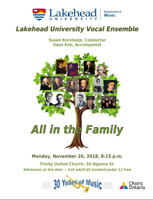 """LU Vocal Ensemble presents """"All In the Family"""""""