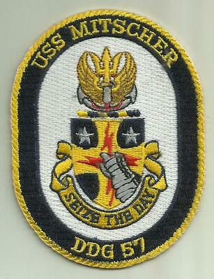 USS MITSCHER DDG 57 US.NAVY PATCH GUIDED MISSILE DESTROYER SAILOR SOLDIER USA Us Navy Destroyer
