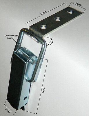 Spannverschluss Kistenverschluss 84x48x5 mit gekröpften Gegenhaken Eckbefestiger