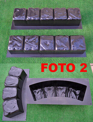 Concrete molds edge stone concrete edging border Sold set 4 pcs molds BR02+BR04