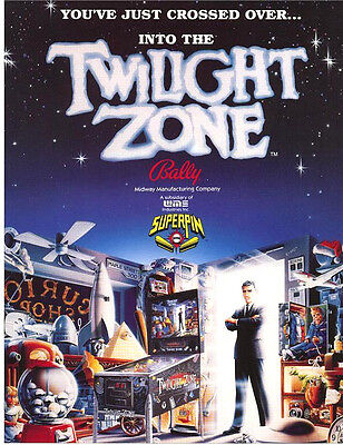Bally TWILIGHT ZONE Original 1993 NOS Flipper Game Pinball Machine Flyer Mint