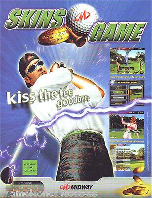 Midway SKINS GAME Golf 2000 Original NOS Video Arcade Game Promo Sales Flyer