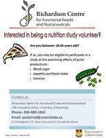 Nutrition Study (compensation provided! )