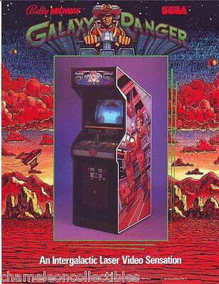 GALAXY RANGER By BALLY MIDWAY 1984 ORIGINAL NOS VIDEO ARCADE GAME PROMO FLYER