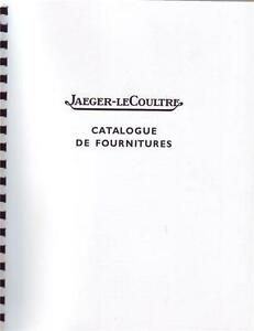 Set of 6 Jaeger Lecoultre Vintage Movement / Parts Identification Repair Manuals