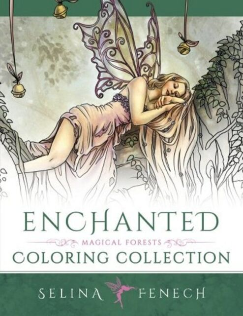Enchanted - Magical Forests Anti-Stress Colouring Book for Adults