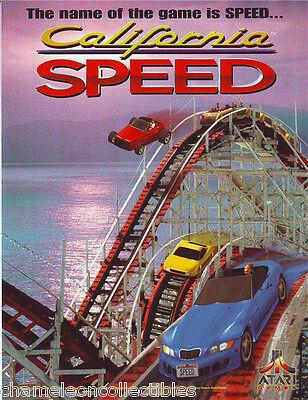 CALIFORNIA SPEED ATARI 1998 ORIGINAL NOS VIDEO ARCADE GAME SALES FLYER BROCHURE