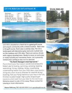 LOT AT MABLE LAKE GOLF AND AIRPARK, BC
