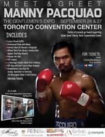 BOXING FANS!MEET&GREET 'MANNY PACAUIAO' IN TORONTO SEPT 26-27TH