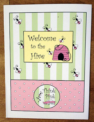 5 - Think Pink Welcome To The Hive Bee Hive 9x12 Presentation Folder Mary Kay