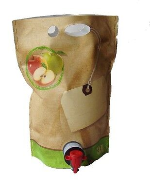 1 Stück 3 Liter Bag in Box Beutel selbststehend