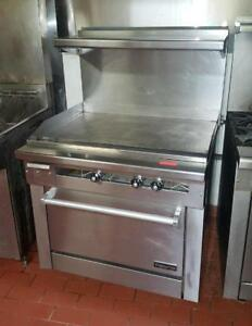 "36"" oven with 36"" flat top grill - natural gas"