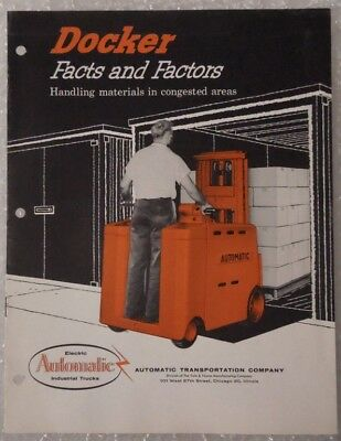 Vintage Automatic Transportation Co. Docker Forklift Sales Brochure