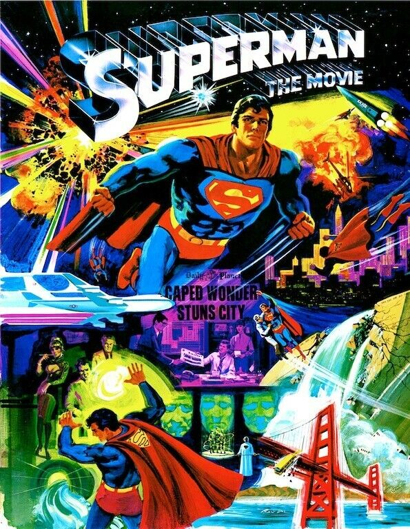 Superman The Movie POSTER  1978 Rare Large