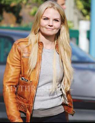Once upon a time Emma Swan Season 4 Brown Leather Jacket ()