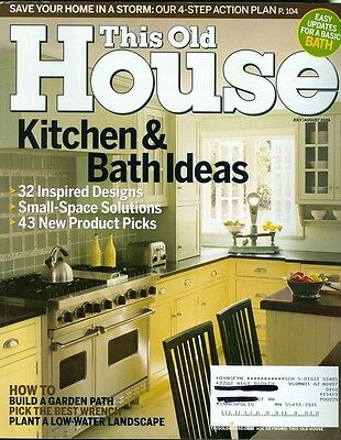 2006 This Old House Magazine  Kitchen   Bath Ideas New Product Review Wrenches