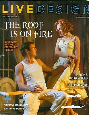 2013 Live Design Magazine  Cat On A Hot Tin Roof Maroon 5 Overexposed Super Bowl