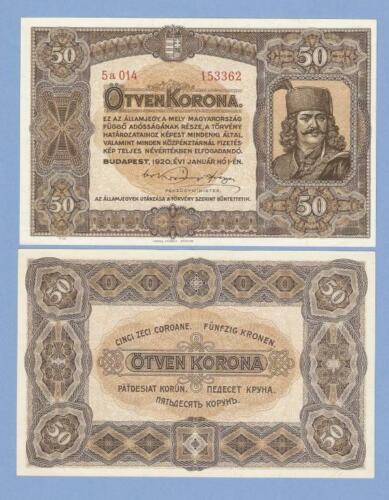 Hungary, 50 korona, 1920, UNC, P 62