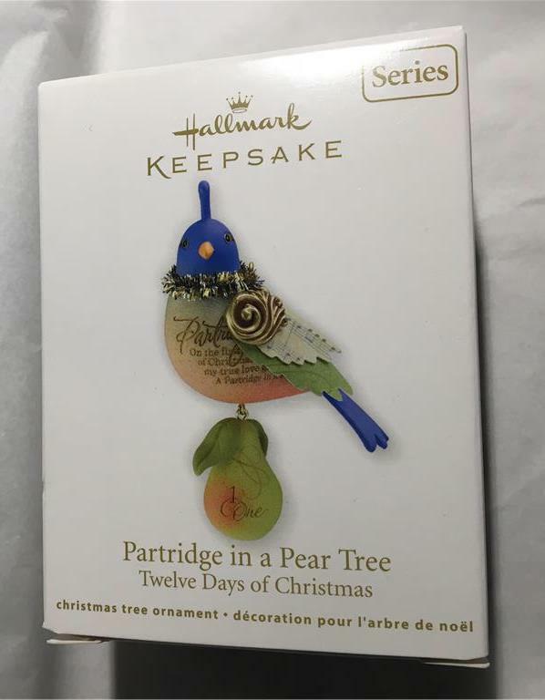 Hallmark Ornament Twelve Days of Christmas Partridge in a Pear Tree 2011 1st #1