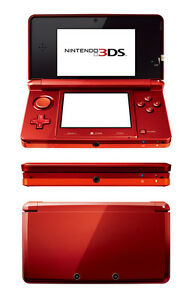 Nintendo-3DS-Flame-Red-Handheld-Console-Game-System-2GB-SD-mem-Box-DISCOUNT