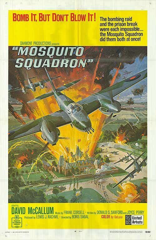 RAF MOSQUITO SQUADRON original WW2 one sheet movie poster MILITARY AVIATION