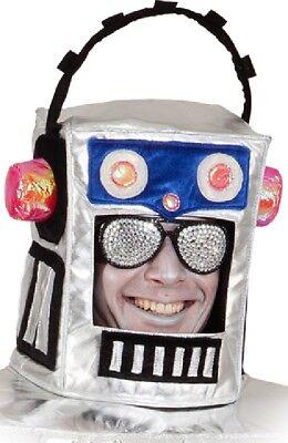 Erwachsene Kinder Roboter Kopfbedeckung Hut Sci Fi Zukunft - Roboter Kostüme Erwachsene