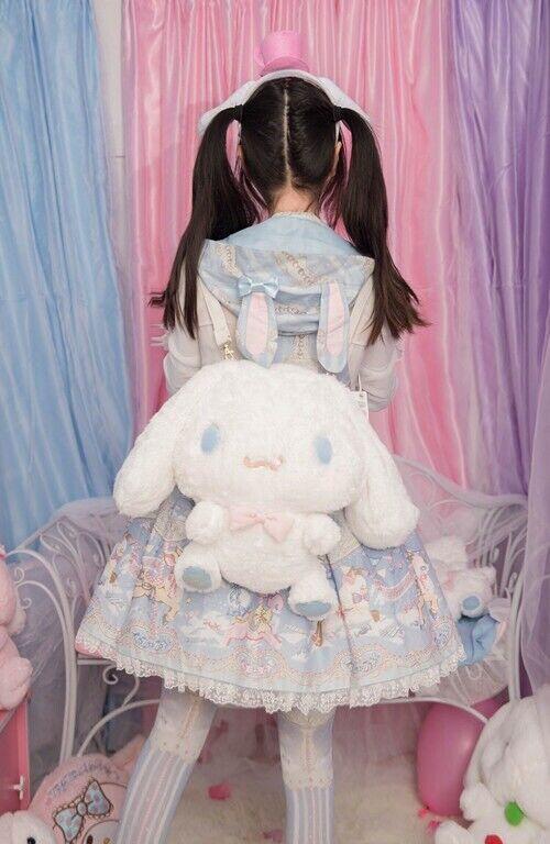 Cute Cinnamoroll Plush Doll Backpack Lolita Crossbody Messenger Shoulder Bag