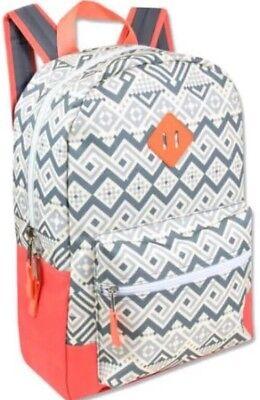 18 Multi Pocket Backpack (🔴 18in Printed Multi Pocket Girl Backpack Adjustable Straps Back To School)