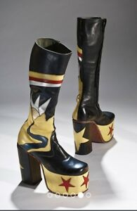70's Tall Leather Platform Boots