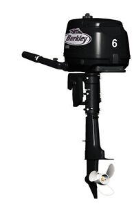 Berkley 6HP Short or Long Shaft Outboard Motor **BRAND NEW**
