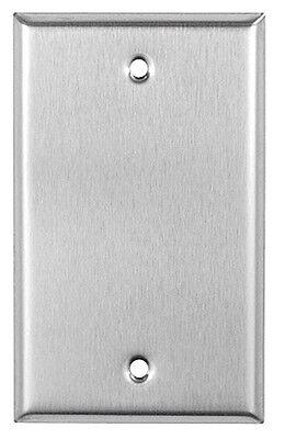 (10 pc) *NEW* Blank 1-Gang Stainless Steel Wall Plate Metal Wallplate
