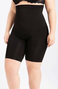NEW Spanx Black Slim Cognito Shaping Mid Thigh Bodysuit Sz 3X $76 Lane Bryant